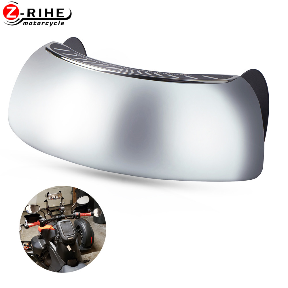 Motorcycle Accessories Wide-angle Rearview Mirror For <font><b>HONDA</b></font> Integra <font><b>700</b></font> <font><b>NC</b></font> 750 D SWT 600 Silver wing TENERE <font><b>700</b></font> NX 650 Dominator image