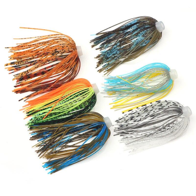 5 adet/grup 88 teller silikon etekler elastik delik şemsiye etekler balıkçılık aksesuarları Buzzbaits Spinner Buzz yem