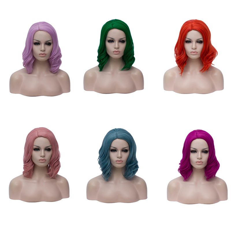 Image 5 - VICWIG Synthetic Red Wigs for Women Short Curly Purple Cosplay Wig White Grey BlondeSynthetic None-Lace  Wigs   -
