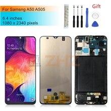 Voor Samsung Galaxy A50 Lcd A505f SM A505FN/Ds A505F/Ds Touch Screen Digitizer Vergadering + Frame Voor Samsung a50 Lcd Reparatie Onderdelen