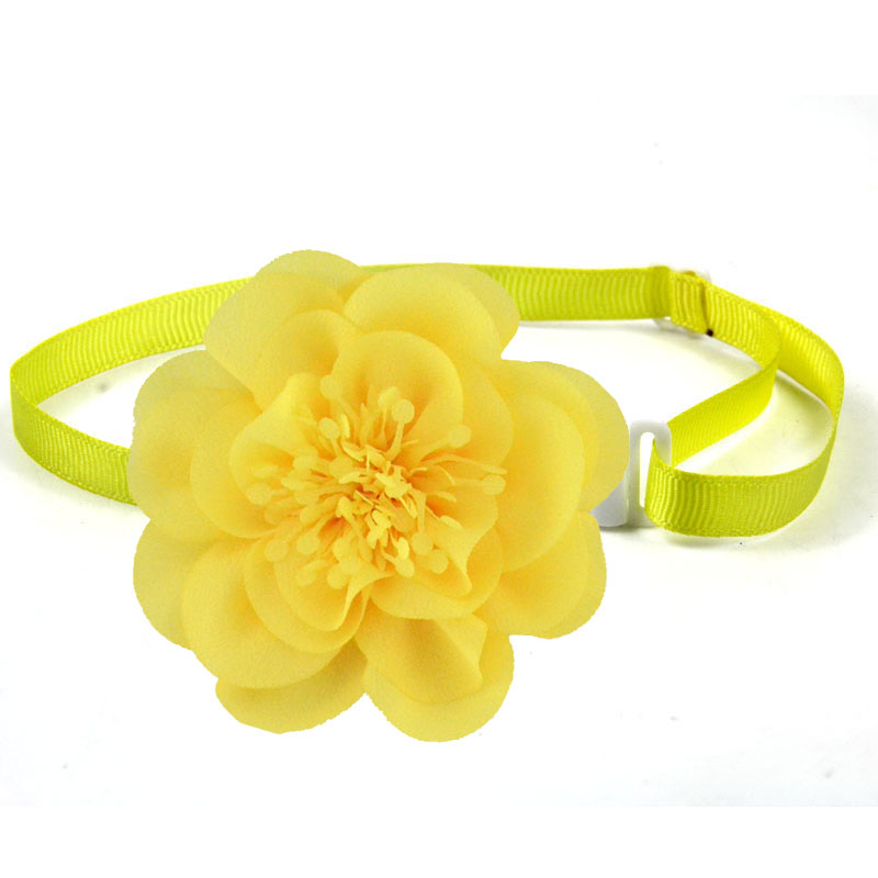Dog pet Bow Tie Chiffon flowers Dog necktie Adjustable Pet BowtiesCollar Dog accessories Grooming Products for small dogs