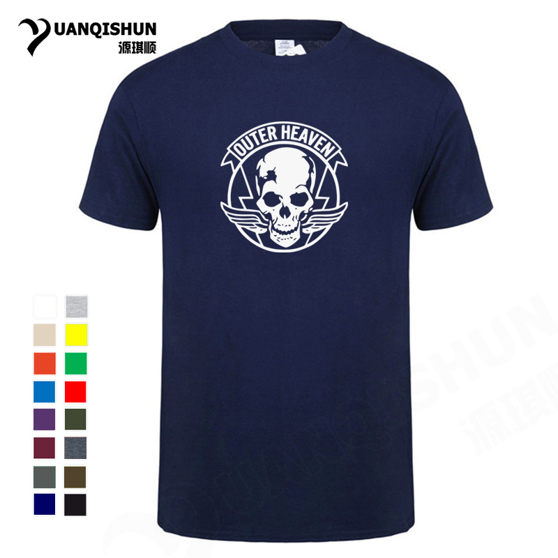Top Quality <font><b>16</b></font> Colors Mens Casual Tshirt Game Metal Gear Solid <font><b>V</b></font> 5 Mgs 5 Outer Heaven Logo <font><b>100</b></font>% Cotton Short Sleeve T-shirts Tee image