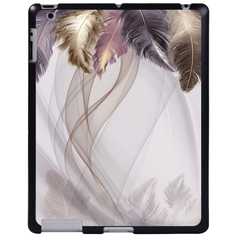 silk feather Navy Blue For Apple iPad 8 10 2 2020 8th 8 Generation A2428 A2429 tablet PC Plastic Printed