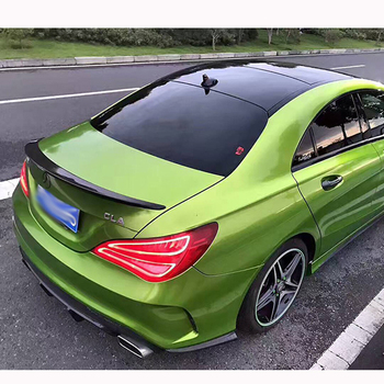 Suitable for M-B CLA Spoiler CLA45 W117 C117 ABS Fiber Rear Trunk Wings Colorless Spoiler Cla 200 250 260 2014 2015 2016 2pcs abs chrome accessory door speaker frame trim 3d stickers for mercedes benz cla 200 220 260 w117 c117 car styling 2014 2017