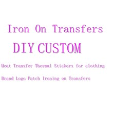 Autocollants thermoadhésifs à rayures, sur transferts, personnalisés, pour vêtements, logo de marque
