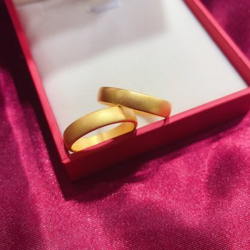HX 24K Pure Gold Ring Real AU 999 Solid Gold Rings Elegant Shiny Heart Beautiful Upscale Trendy Jewelry Hot Sell New 2020