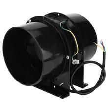 6 İnç kanal fanı vantilatör havalandırma egzoz fanı Mini çıkarıcı bodrum atölye duvar tipi Fan kanalı Fan AC 100-120V 50/60HZ