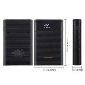 Image 3 - HAWEEL DIY סוללה מטען כוח בנק מעטפת תיבת (לא כלול) עם 2x USB פלט & תצוגה, תמיכה QC 2.0 12000mA 4x18650