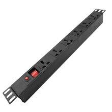 工業用pdu電源分配ユニットソケット過負荷保護、電源ストリップ6ACユニバーサルコンセント延長ソケット1.5/2.5メートル