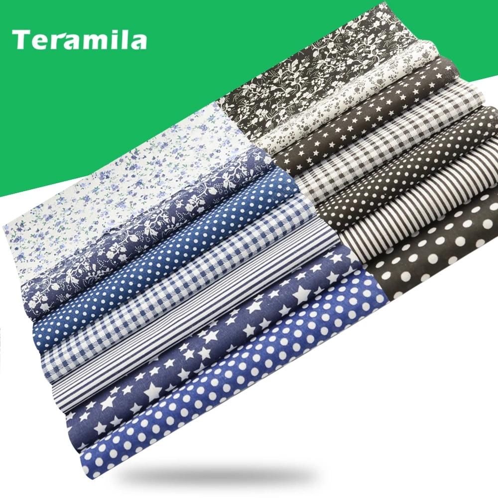 Cotton Fabric Flower Telas Patchwork Cloth Quliting Sewing Needlework DIY Crafts
