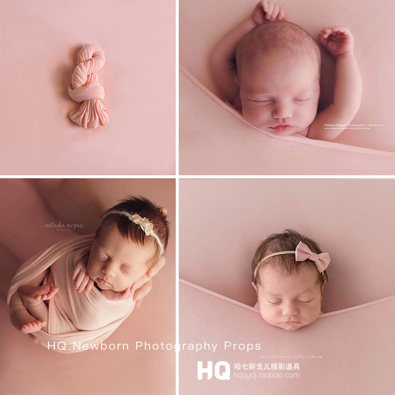 Newborn Photography Wraps Baby Photo Props Knit Stretch Wrap Baby Cocoon Sweater Fabric Wrap For Newborn Photography Props