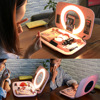 Desktop stand mobile phone fill light for Cosmetics Case Storage Drawer with HD Mirror and LED Fill Light flash sale