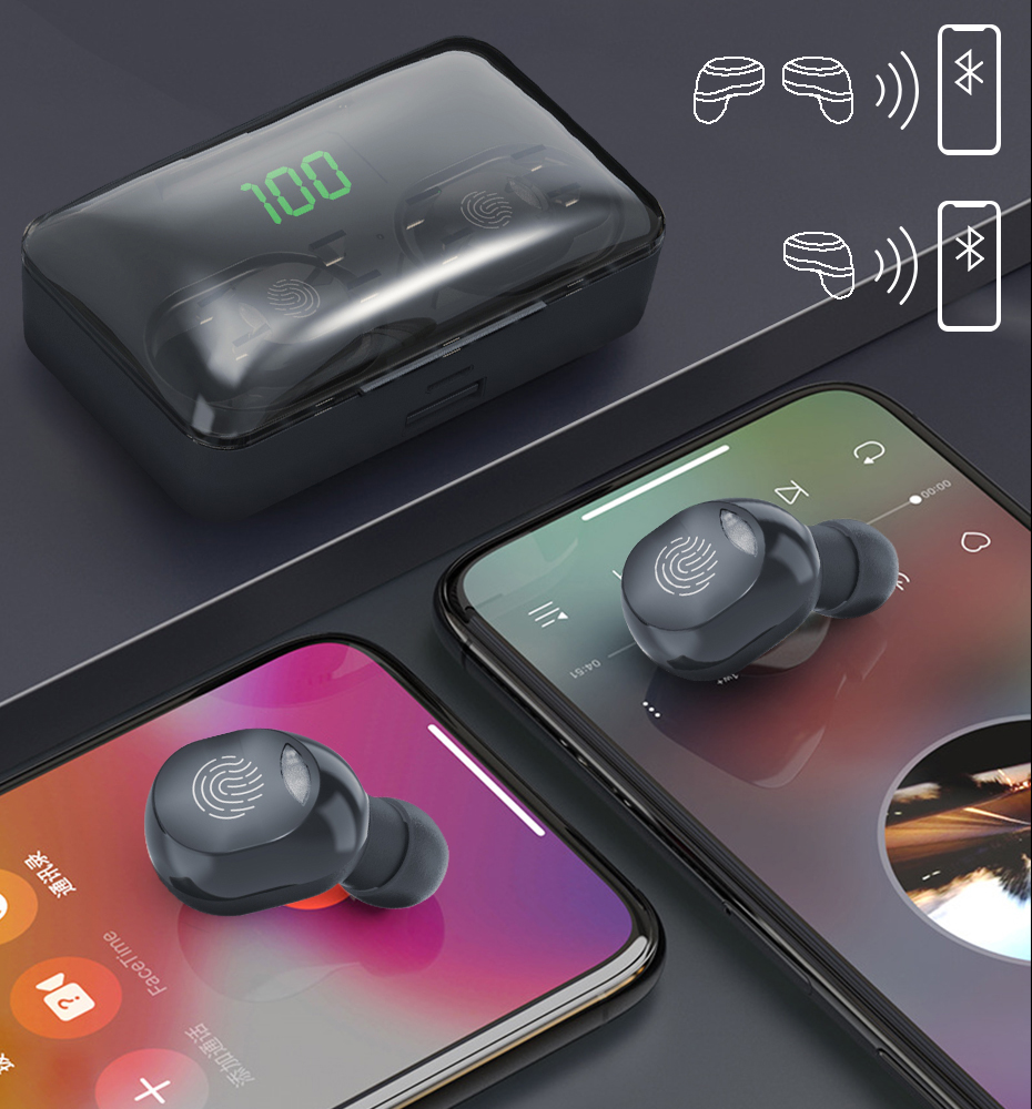 TWS Bluetooth 5.1 Earphones 4200mAh Charging Box Wireless Headphone 9D Stereo Sports Waterproof Earbuds Headsets With Microphone