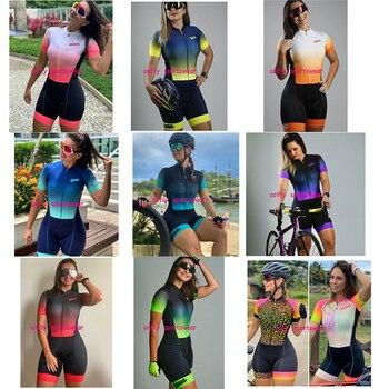 XAMA-Maillot de triatlón corto para Mujer, Ropa de Ciclismo profesional, mono, 2020