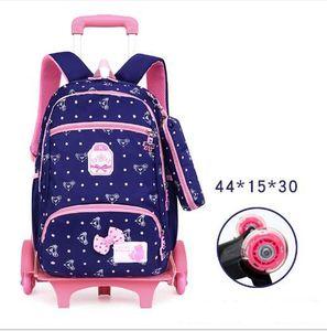 Image 5 - Okul sırt çantası tekerlekli okul sırt çantası çocuk okul çantası çocuklar seyahat arabası sırt çantası tekerlekler üzerinde