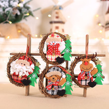 Christmas Hang Decoration Ornaments Gift Santa Claus Snowman Tree Toy Doll Decorations For Home
