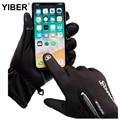 Перчатки для рыбалки и лыж, водонепроницаемые зимние перчатки, велосипедные пуховые теплые перчатки для сенсорного экрана, ветрозащитные п...