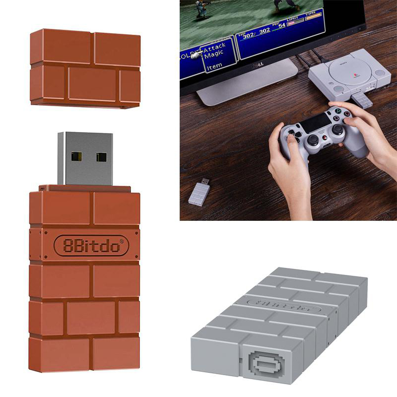 8Bitdo USB Wireless Bluetooth USB Adapter Receiver For Windows Mac For Nintend Switch For PS4/PS3/Xbox One Console