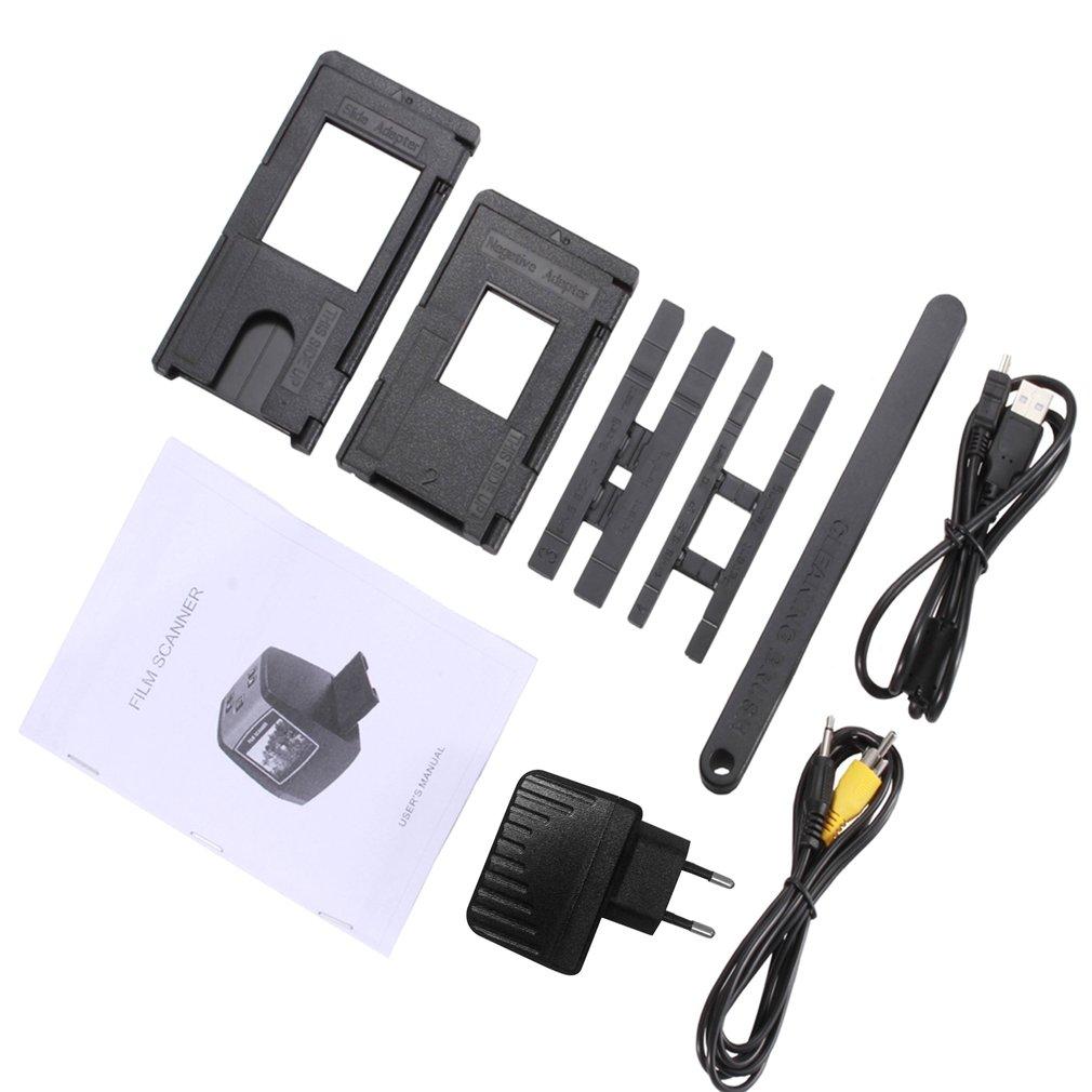 EU Plug 14MP Film Camera Portable SD Card Film Scan Photo Scanners Negative Film Slide Viewer Scanner USB MSDC Film Converter фото