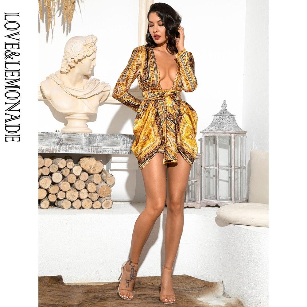 גבוה LOVE&LEMONADE שרוול שמלה