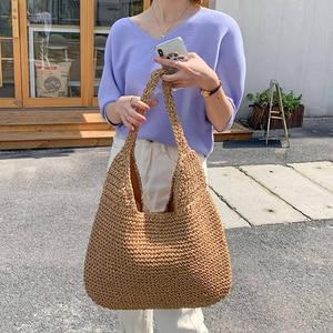 Bohemian Straw Bag Women Handmade Woven Handbag Large Capacity Lady Totes Rattan Beach Bag Summer Outdoors Shopping Bag Bolsas