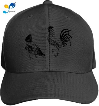 Rooster Hening Bird Barn Unisex Washed Twill Baseball Cap Adjustable Peaked Sandwich Hat image