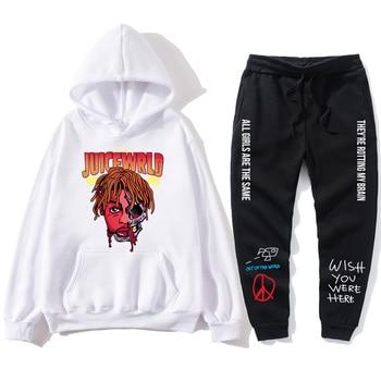 2020JUICEWRLP autumn and winter mens printed sportswear suit sports hoodie + pants casual