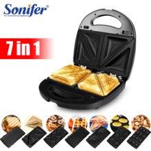 Sonifer – gaufrier électrique 7 en 1, Machine à sandwichs, four à gâteaux, cuisine, petit déjeuner, Donuts, multi-boulanger
