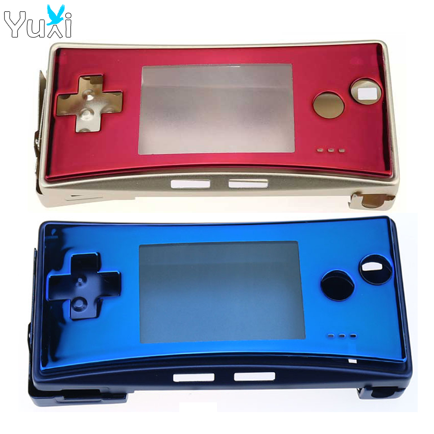YuXi Metal Housing Shell <font><b>case</b></font> for Nintendo Gameboy Micro for <font><b>GBM</b></font> front back Cover Faceplate Battery Holder & Screws image