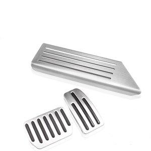 Image 4 - Aluminium legierung Fuß Pedal Für Tesla Modell 3 Accelerator Gas Kraftstoff Bremspedal Rest Pedal Pads Matten Abdeckung Zubehör Auto styling