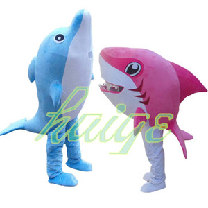 Ocean Shark Mascot Costume Party Mascot Animal Dolphin fish Costume Halloween Fancy Dress Christmas Cosplay for Halloween Party