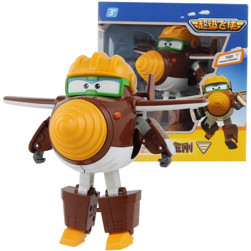 Большой! 15 см ABS Супер Крылья деформация самолет робот фигурки Супер крыло Трансформация игрушки для детей подарок Brinquedos - Цвет: With Box TODD