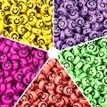 100 шт./лот 7 мм акриловые разделенные бусины овальной формы бусины с улыбкой для изготовления ювелирных изделий «сделай сам» шармы браслет о...