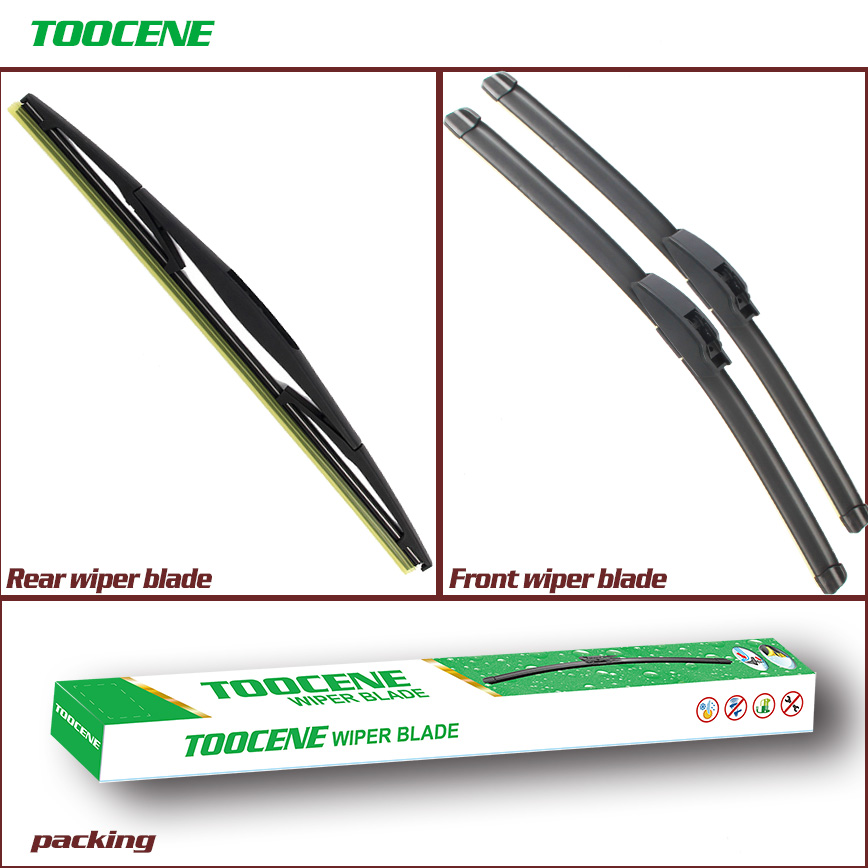 Front and Rear Wiper Blades For Honda Jazz 2009 -<font><b>2016</b></font> Car Windscreen Windshield Wipers Auto Accessories image