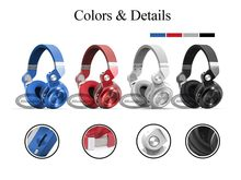 Bluedio T2+ Wireless Bluetooth 5.0 Stereo Headphone sd card&FM radio Headset with Mic High Bass Sounds(China)