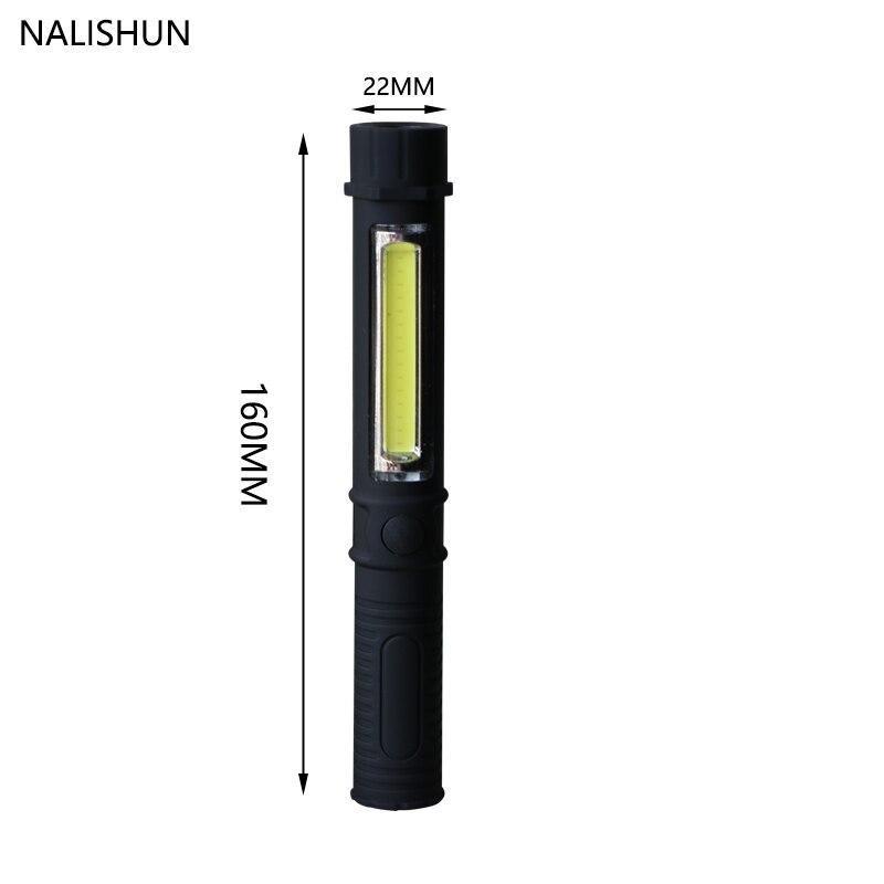Multifunktions COB LED Mini Stift Licht Arbeit Inspektion Taschenlampe Lampe Mit der Untere Magnet und Clip Diagnose werkzeuge