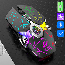 2,4G Wireless Maus 2400 PDI Bluetooth Maus 6 Tasten USB Empfänger Wiederaufladbare Silent Professional Gaming Maus Für PC Laptop