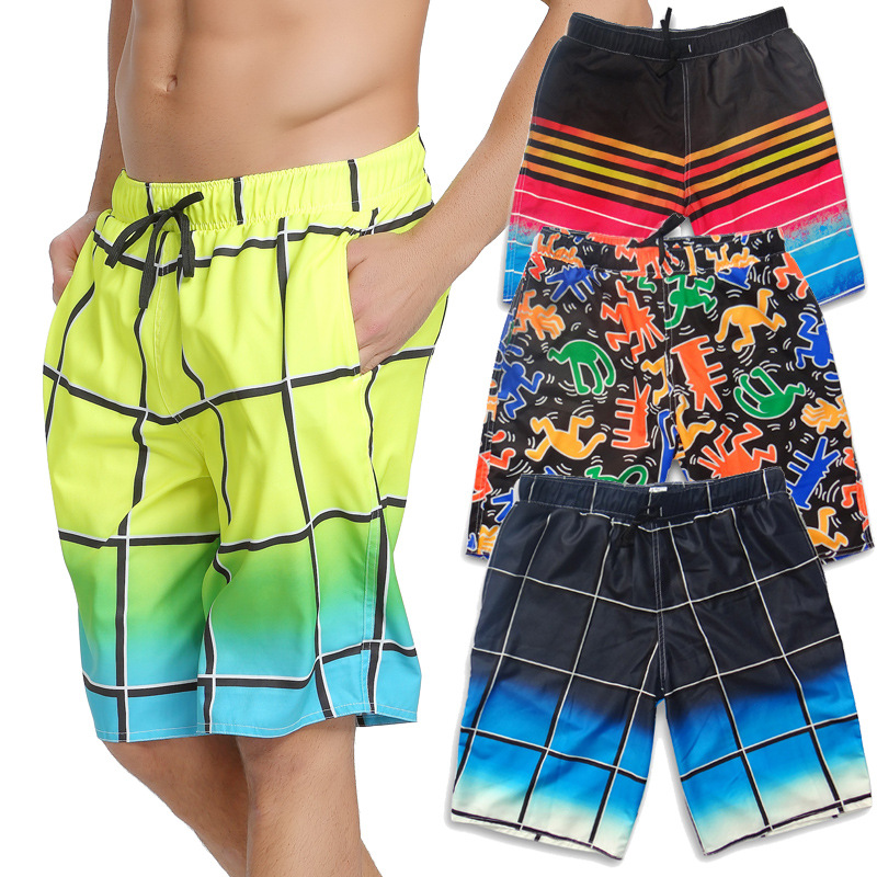 Shorts Men's Summer Quick-Dry Beach Shorts Casual Sports Short Large Trunks Fashion Summer Capri Loose-Fit Couples Closeout