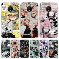 Cazadora de Anime Kimetsu No Yaiba funda de silicona para teléfono para Motorola Moto G8 G7 G9 G6 G5S G5 G4 E6 E5 E4 Plus Play + una Ac