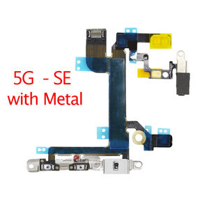 High Quality For iPhone 5 5S 5C SE Volume Button Power Switch On Off Button Key Flex Cable
