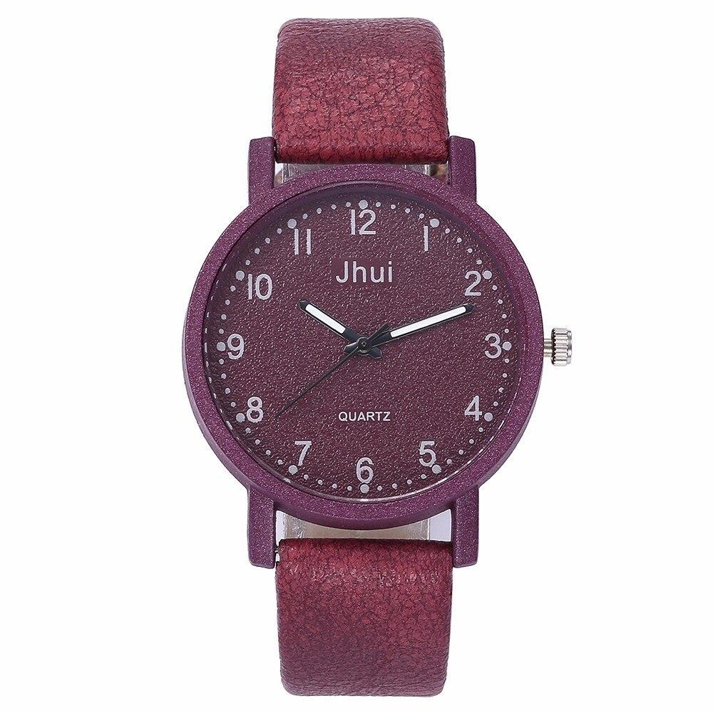 2019 New Hot Fashion Women's Simple Watch Casual Leather Quartz Watch Gift Clock Relogio Feminino Wholesale