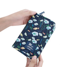 New nylon Wallets passport holder document bag cartoon multi-function abroad certificate ticket holder travel passport package стоимость
