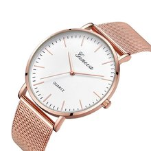 Fashion Casual watches Womens Men Classic Quartz Stainless Steel Wrist