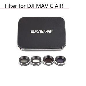Image 1 - Drone Lens filters kit for DJI MAVIC AIR Drone Camera Lens Filter Circular Polarizer Neutral Density UV CPL ND4 ND8 ND16 parts