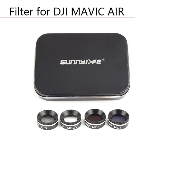Drone Lens filters kit for DJI MAVIC AIR Drone Camera Lens Filter Circular Polarizer Neutral Density UV CPL ND4 ND8 ND16 parts