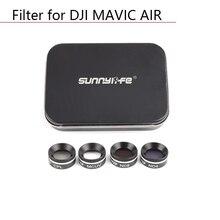 Zestaw filtrów obiektywu Drone do aparatu DJI MAVIC AIR Drone filtr obiektywu okrągły polaryzator neutralna gęstość UV CPL ND4 ND8 ND16 części