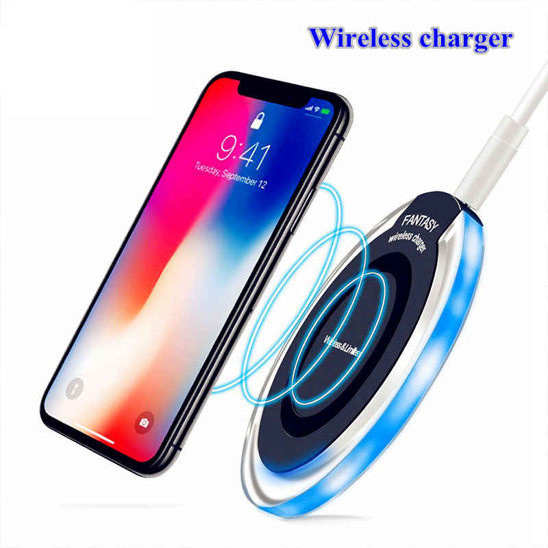 Chargeur sans fil chargeur USB à Induction pour Apple iPhone 8 Plus/X pour Samsung Galaxy S6 7 bord S8 Plus Note 8