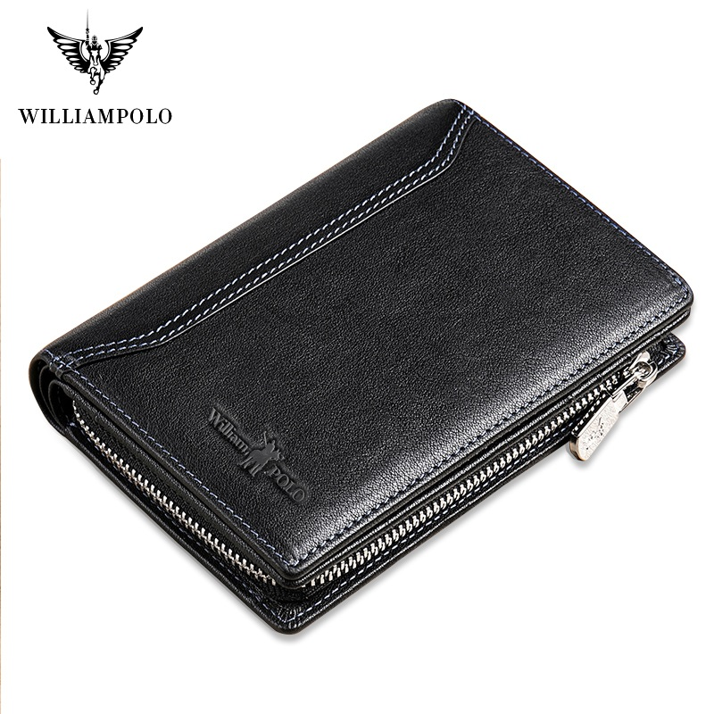 WilliamPolo Men Wallet mens slim Credit Card Holder Bifold Genuine Leather mini Multi Card Case Slots Vegetable tanned cowhide Men Men's Bags Men's Wallets cb5feb1b7314637725a2e7: Brown|black