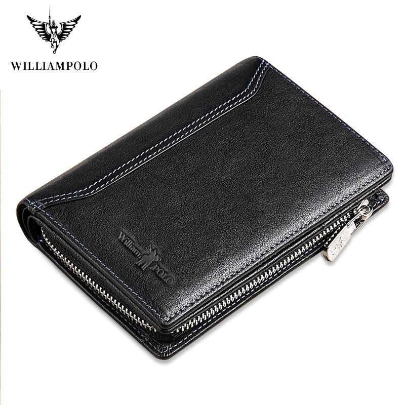 WilliamPolo Men Wallet mens slim Credit Card Holder Bifold Genuine Leather mini Multi Card Case Slots Vegetable tanned cowhide Men Men's Bags Men's Wallets cb5feb1b7314637725a2e7: Brown black