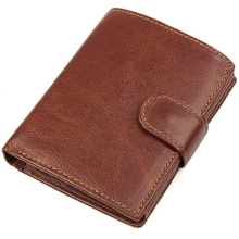 Famous Brand 100% Genuine Cowhide Leather Portomonee Vintage Walet Male Wallet M